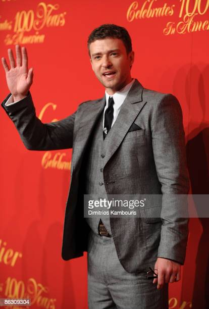 Musician Justin Timberlake attends the Cartier 100th Anniversary in America Celebration at Cartier Fifth Avenue Mansion on April 30 2009 in New York...