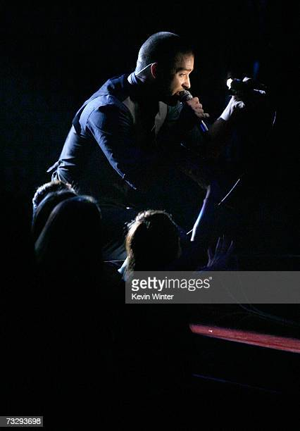 Musician Justin Timberlake performs What Goes Around Comes Around onstage at the 49th Annual Grammy Awards at the Staples Center on February 11 2007...