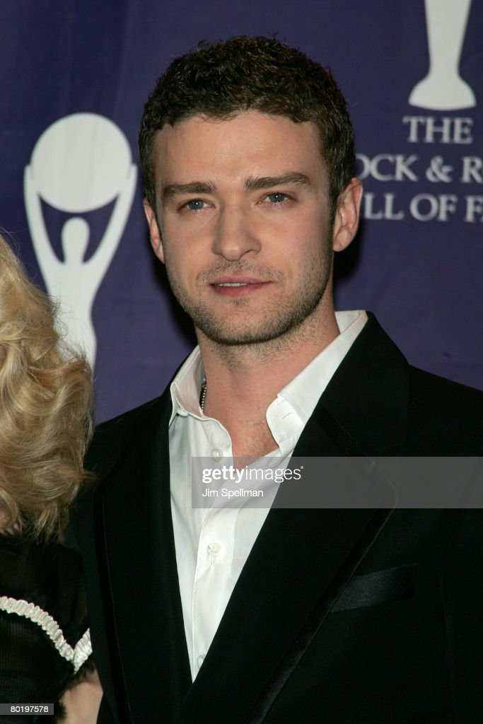 Musician Justin Timberlake poses in the press room during the 23rd Annual Rock and Roll Hall of Fame Induction Ceremony at the Waldorf Astoria on March 10, 2008 in New York City.