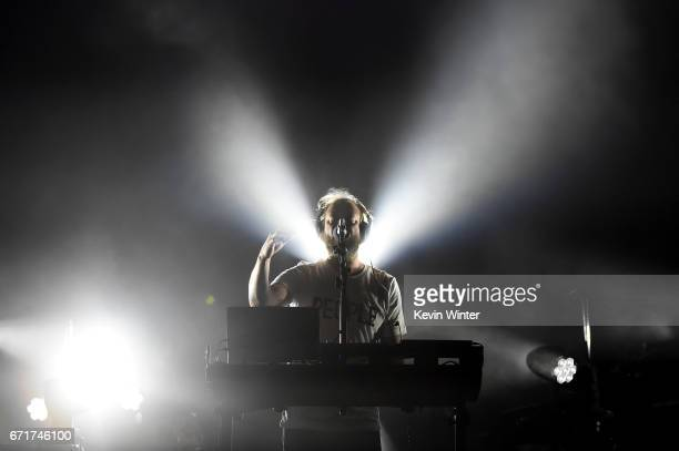 Musician Justin Vernon of Bon Iver performs during day 2 of the 2017 Coachella Valley Music Arts Festival at the Empire Polo Club on April 22 2017 in...