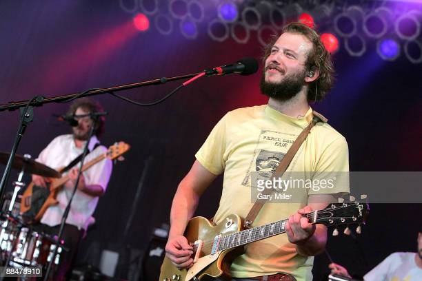 Musician Justin Vernon of Bon Iver performs during the 2009 Bonnaroo Music and Arts Festival on June 13 2009 in Manchester Tennessee