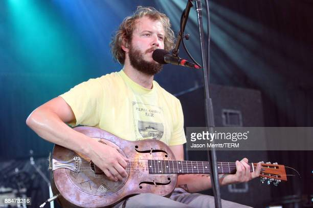 Musician Justin Vernon of Bon Iver performs on stage during Bonnaroo 2009 on June 13 2009 in Manchester Tennessee