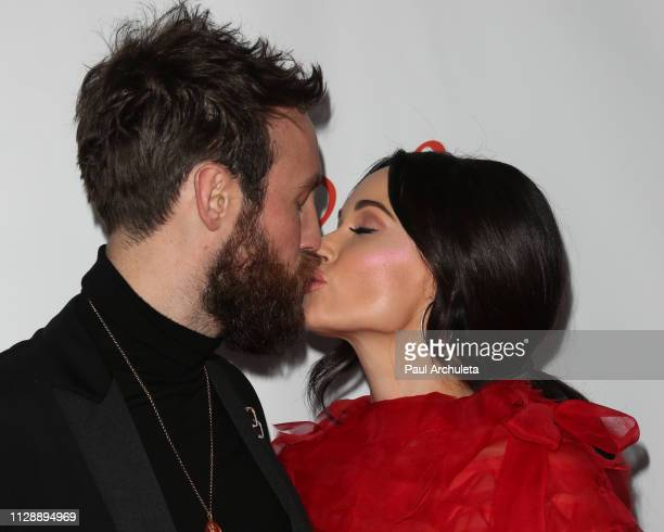 Musician Kacey Musgraves and Singer Ruston Kelly attend the Universal Music Group's 2019 after party to celebrate The GRAMMYs at ROW DTLA on February...