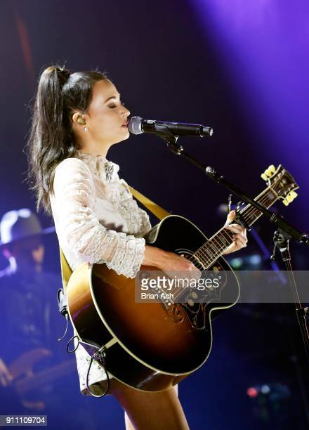 Musician Kacey Musgraves performs onstage at Sir Lucian Grainge's 2018 Artist Showcase presented by Citi with support from Remy Martin on January 27...