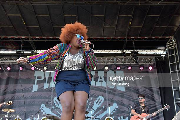Musician Kam Franklin of The Suffers performs onstage at the Pilgrimage Music Cultural Festival Day 2 on September 25 2016 in Franklin Tennessee