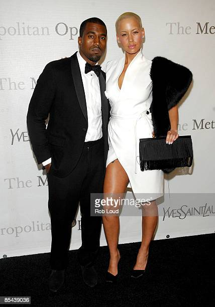 Musician Kanye West and model Amber Rose attend The Metropolitan Opera's 125th Anniversary Gala at The Metropolitan Opera House, Lincoln Center on...