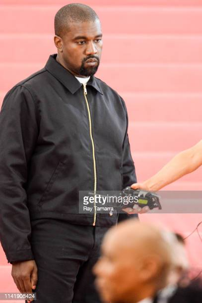 Musician Kanye West attends The 2019 Met Gala Celebrating Camp Notes on Fashion at Metropolitan Museum of Art on May 6 2019 in New York City