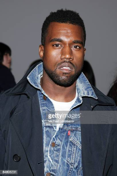 Musician Kanye West attends the Preen By Tornton Bregazzi Fall 2009 fashion show during MercedesBenz Fashion Week at the Altman Building on February...