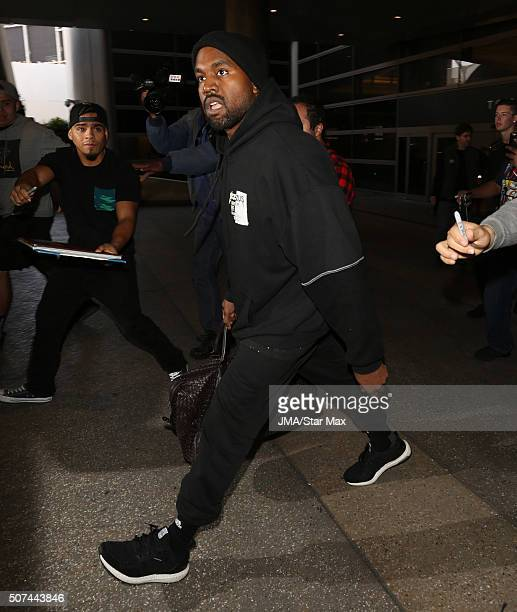 Musician Kanye West is seen on January 29 2016 Los Angeles CA