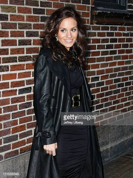 Musician Kara DioGuardi visits 'Late Show with David Letterman' at the Ed Sullivan Theater on January 12 2009 in New York City