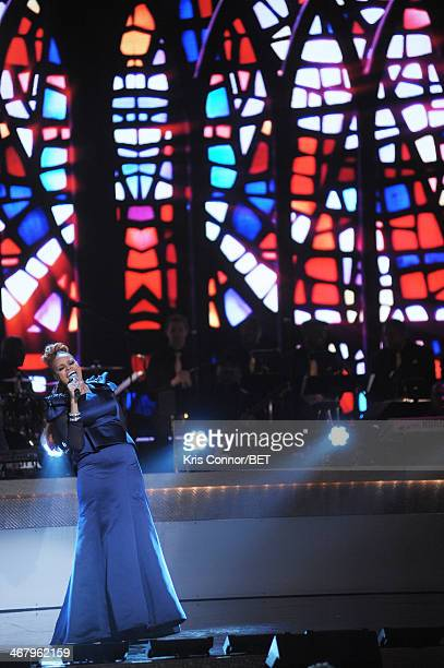 Musician Karen Clark Sheard performs onstage at BET Honors 2014 at Warner Theatre on February 8 2014 in Washington DC