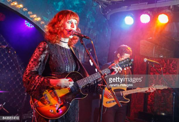Musician Karen Elson performs at Anna Sui x INC International Concepts Launch Party at Heath at the McKittrick Hotel on September 6 2017 in New York...