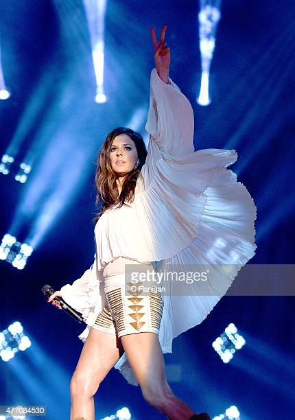 Musician Karen Fairchild of Little Big Town performs onstage during the 2015 CMA Festival on June 13, 2015 in Nashville, Tennessee.