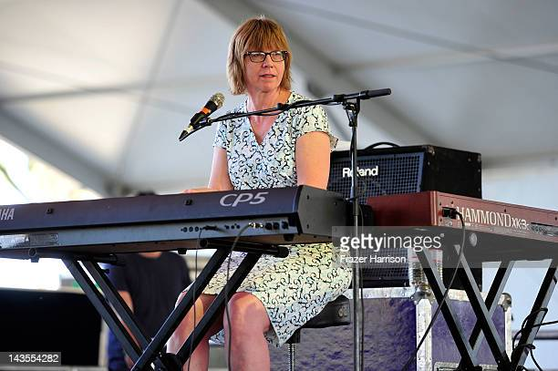 Musician Karen Grotberg of The Jayhawks performs onstage during the Stagecoach Country Music Festival held at the Empire Polo Field on April 28 2012...