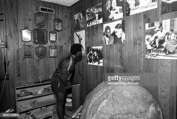 Musician Kashif relaxes at his home the former estate of Jackie Robinson in 1985 in Stamford Connecticut