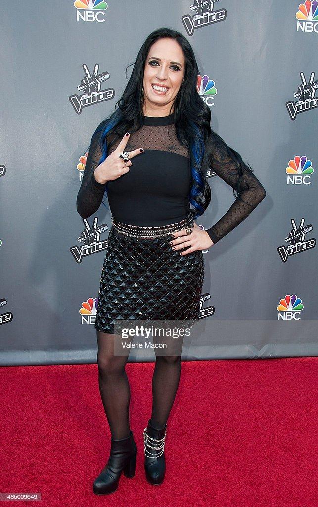Musician Kat Perkins arrives at NBC's 'The Voice' Season 6