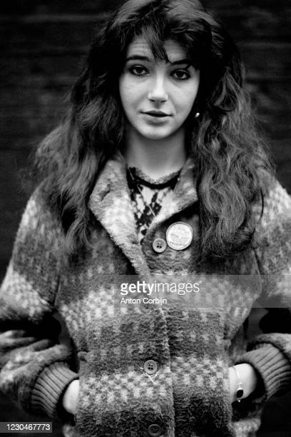 Musician Kate Bush poses for a portrait in London, in 1978.