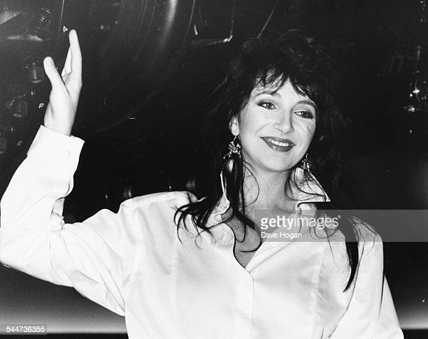 Musician Kate Bush promoting her new album 'Hounds of Love' at London Planetarium September 9th 1985