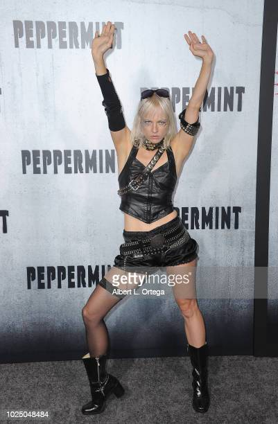 Musician Kate Crash arrives for the Premiere Of STX Entertainment's Peppermint held at Stadium 14 on August 28 2018 in Los Angeles California