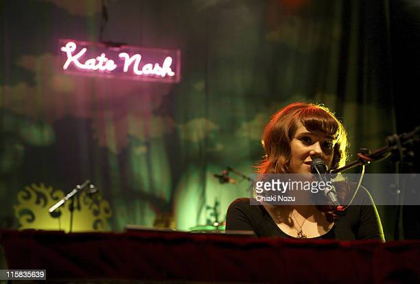 Musician Kate Nash performs at Shepherd's Bush Empire November 14 2007 in London England
