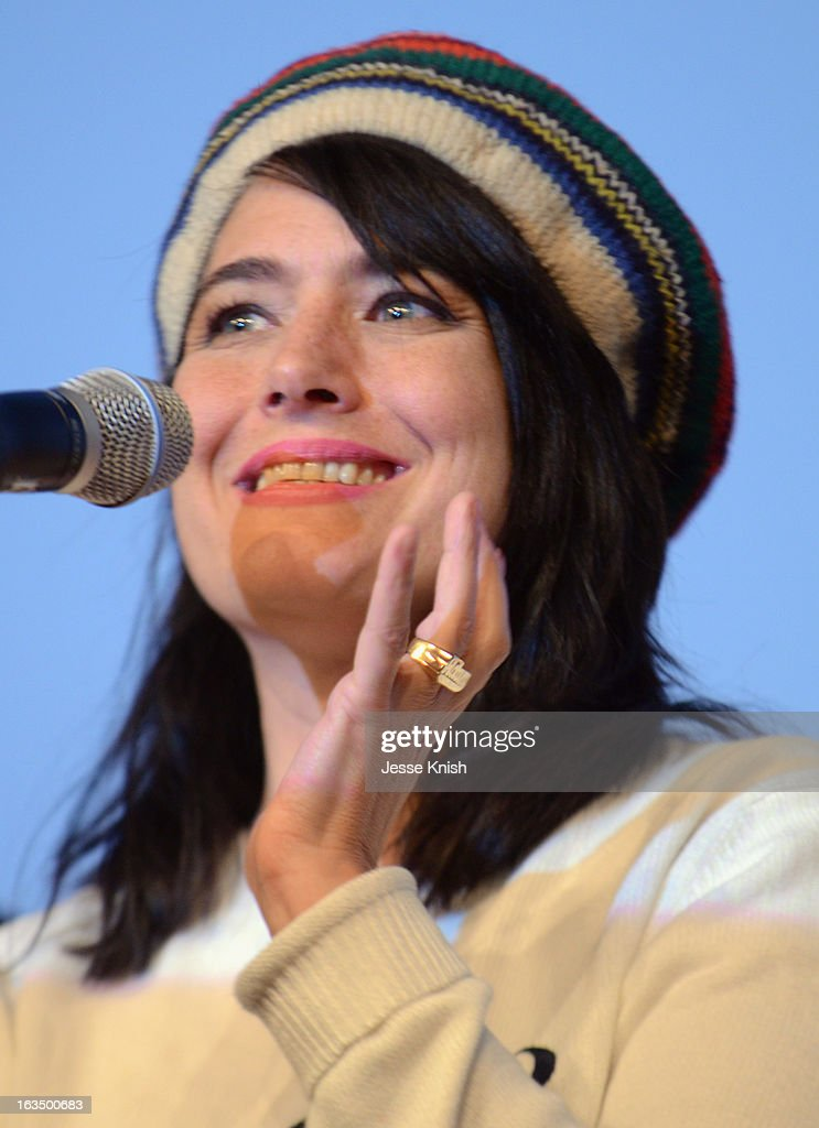 Musician Kathleen Hanna speaks onstage at 'The Punk Singer' Q&A during the 2013 SXSW Music, Film + Interactive Festival at Austin Convention Center on March 10, 2013 in Austin, Texas.