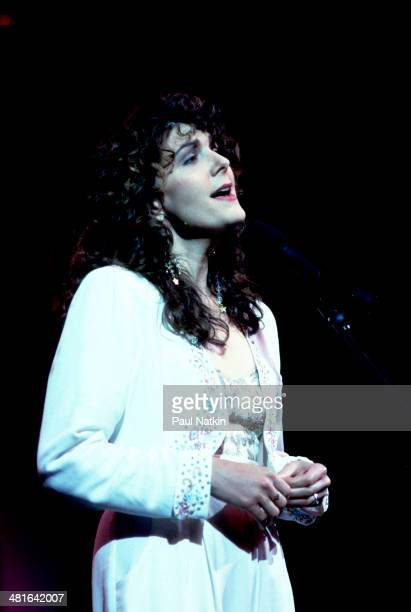 Musician Kathy Mattea performs onstage Chicago Illinois July 23 1990