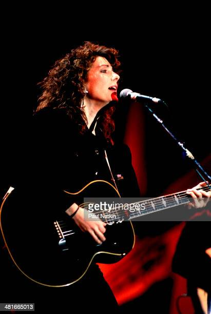 Musician Kathy Mattea performs onstage Indianapolis Indiana April 7 1990