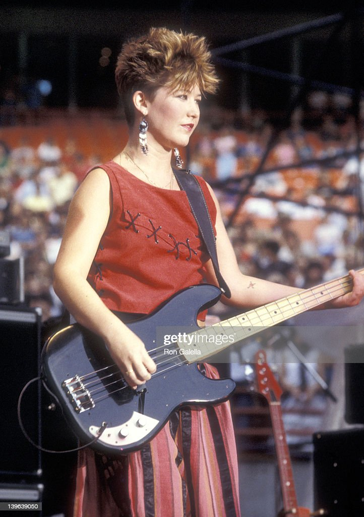 Musician Kathy Valentine Of The GoGou0027s Performs In Concert On September 9  1983 At Anaheim Stadium