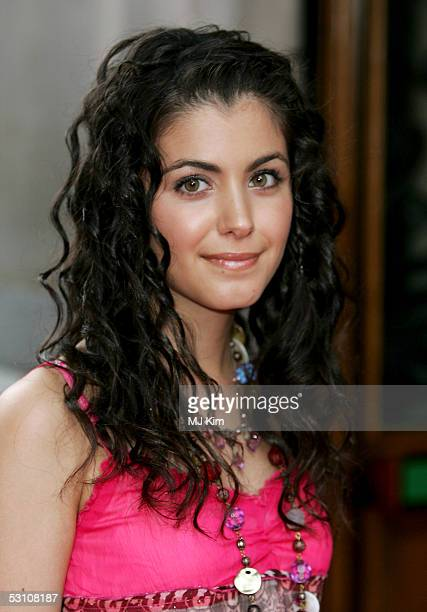 Musician Katie Melua arrives at the In The Pink charity party in aid of Breast Cancer Haven at Cadogan Hall on June 20 2005 in London England