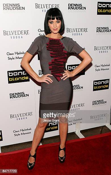 Musician Katy Perry arrives at Bondi Blonde's Style Mansion Hosted By Katy Perry at the Style Mansion International on February 9, 2009 in Beverly...