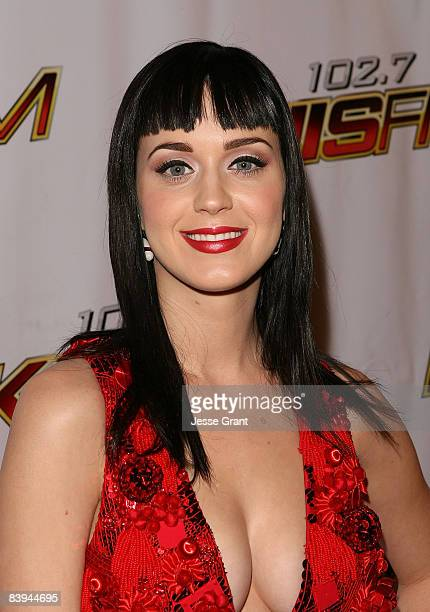 Musician Katy Perry arrives at KIIS FM's Jingle Ball Concert at the Honda Center on December 6 2008 in Anaheim California