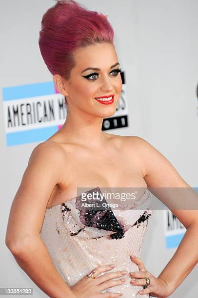 Musician Katy Perry arrives for the 2011 American Music Awards held at Nokia Theater at LA Live on November 20 2011 in Los Angeles California