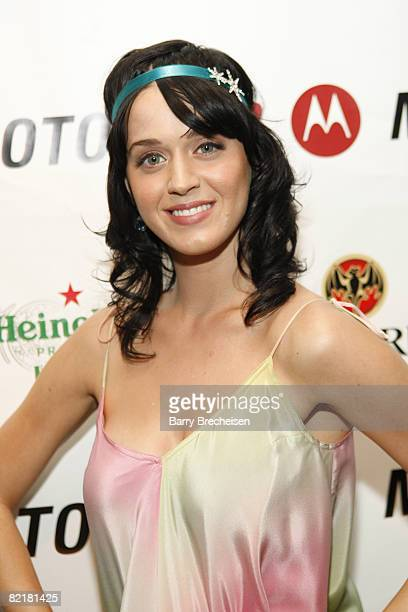 Musician Katy Perry at the MOTOROKR Lounge at The Underground on July 31 2008 in Chicago