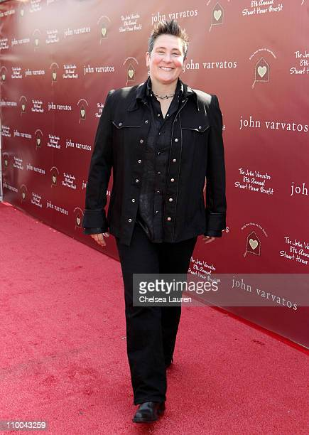 Musician KD Lang attends John Varvatos 8th Annual Stuart House Benefit featuring KD Lang at John Varvatos Los Angeles on March 13 2011 in Los Angeles...