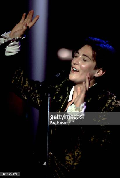 Musician KD Lang performs onstage Chicago Illinois November 27 1992