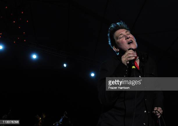 Musician kd lang performs onstage during 2011 Stagecoach California's Country Music Festival at the Empire Polo Club on May 1 2011 in Indio California
