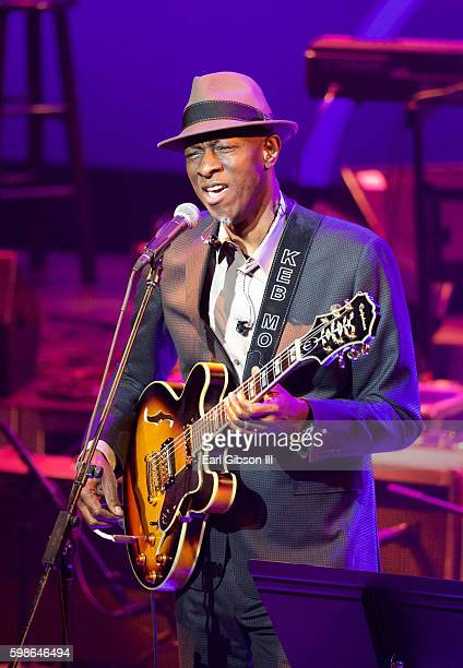 """Musician Keb' Mo' performs at the GRAMMY Foundation's """"Icon: The Life And Legacy Of B.B. King at Wallis Annenberg Center for the Performing Arts on..."""