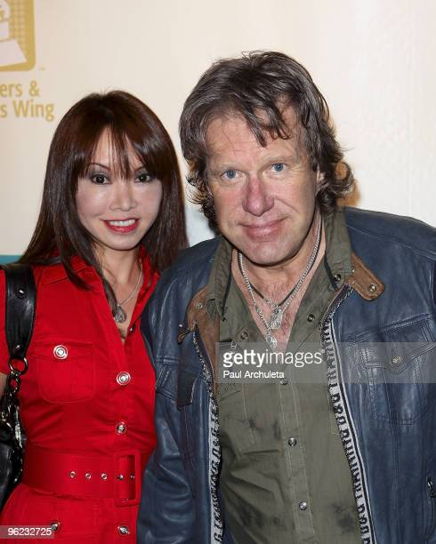 "Musician Keith Emerson & guest arrive at The Recording Academy's 3rd Annual ""Catch A Fire"" Honoring Chris Blackwell at The Village Recording Studios..."