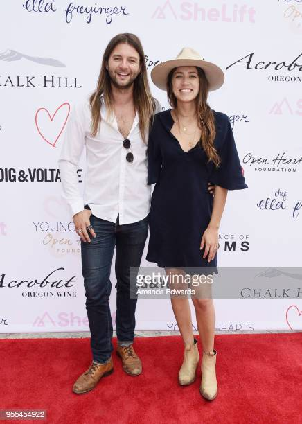 Musician Keith Harkin and Kelsey Harkin attend The Open Hearts Foundation's 2018 Young Hearts Spring Event honoring Alliance of Moms and Shelift on...