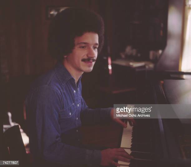 Musician Keith Jarrett poses for a portrait session in 1975 in Los Angeles, California.