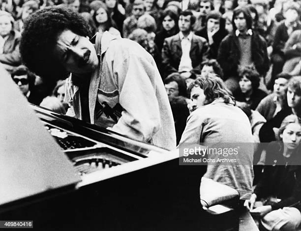 Musician Keith Jarrett poses for a portrait session in CIRCA 1973 in Los Angeles, California.