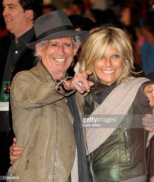 Musician Keith Richards and his wife Patti Hansen arrive at the premiere of Walt Disney Pictures' Pirates of the Caribbean On Stranger Tides at...