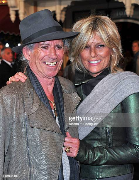 Musician Keith Richards and model Patti Hansen arrive at the world premiere of Pirates Of The Caribbean On Stranger Tides at Disneyland on May 7 2011...