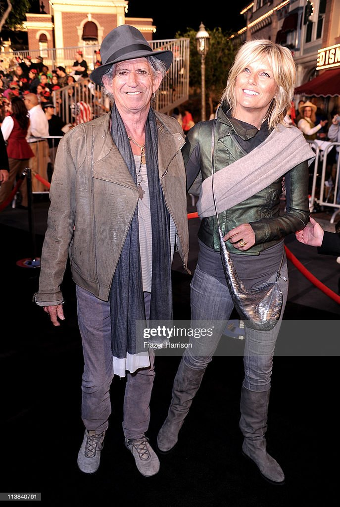 Musician Keith Richards and Patti Hansen arrives at premiere of Walt Disney Pictures' 'Pirates of the Caribbean: On Stranger Tides' held at Disneyland on May 7, 2011 in Anaheim, California. Proceeds from the world premiere of Walt Disney Pictures' 'Pirates Of The Caribbean: On Stranger Tides' will benefit the Boys & Girls Clubs of America on May 7, 2011 in Anaheim, California.