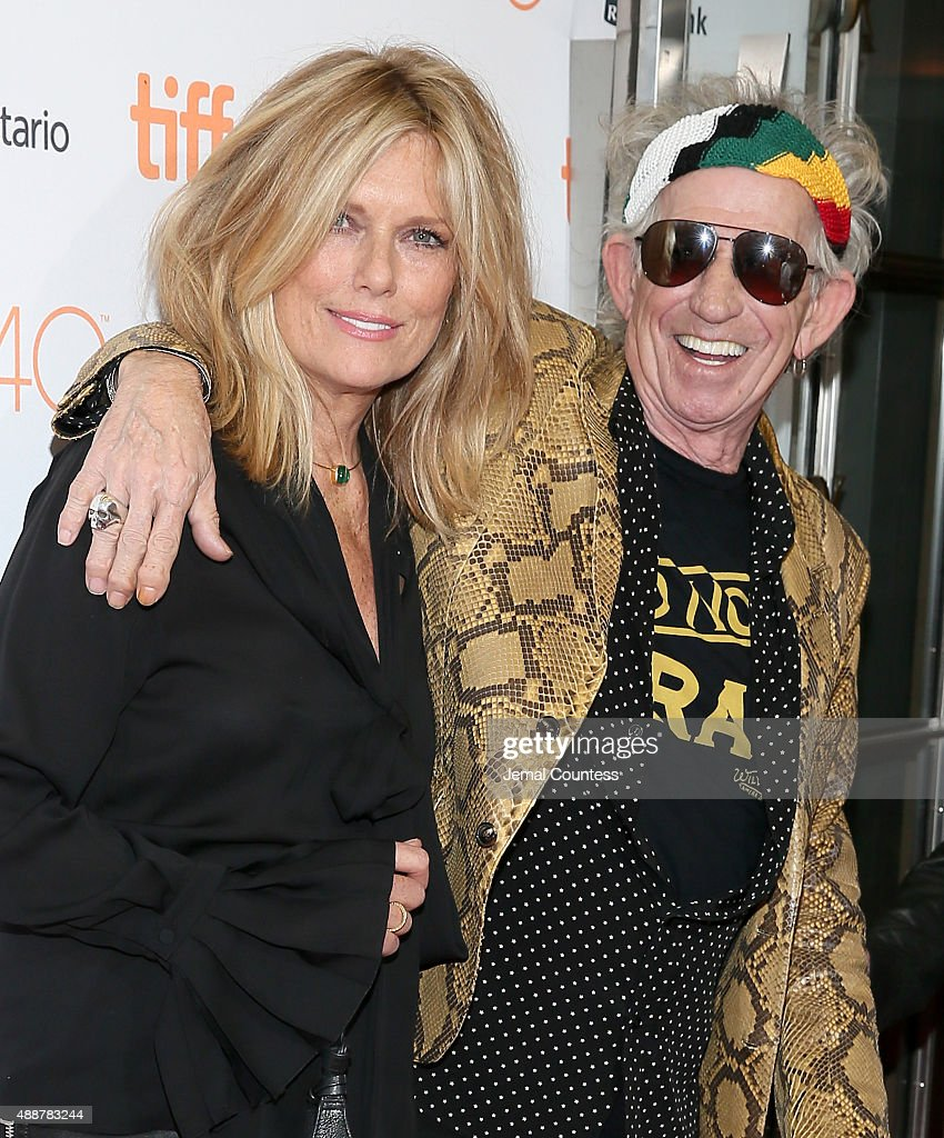 Musician Keith Richards (R) and Patti Hansen attend the 'Keith Richards: Under The Influence' premiere during the 2015 Toronto International Film Festival at Princess of Wales Theatre on September 17, 2015 in Toronto, Canada.