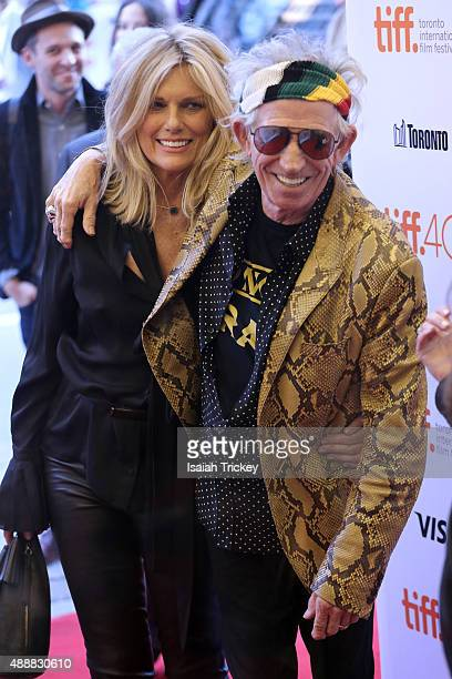 Musician Keith Richards and Patti Hansen attend the 'Keith Richards Under The Influence' premiere during the 2015 Toronto International Film Festival...