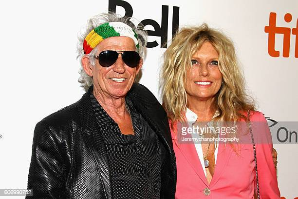 Musician Keith Richards and Patti Hansen attend the The Rolling Stones Ole Ole Ole A Trip Across Latin America premiere held at Roy Thomson Hall...