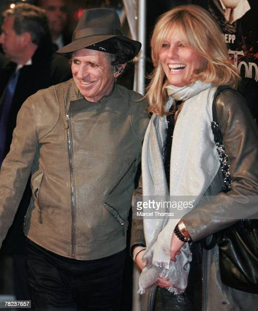Musician Keith Richards and wife Patti Hansen attend the New York Premiere of the movie Sweeney Todd The Demon Barber Of Fleet Street at the Ziegfeld...