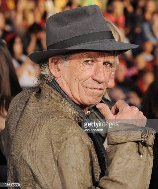 "Musician Keith Richards arrives at the World Premiere ""Pirates Of The Caribbean: On Stranger Tides"" at Disneyland on May 7, 2011 in Anaheim,..."
