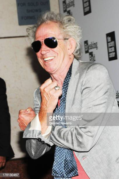 Musician Keith Richards attends The Film Society Of Lincoln Center And AMC Celebration Of 'Breaking Bad' Final Episodes at The Film Society of...